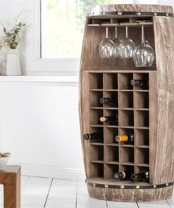LuxD Regál na víno Winebar 97 cm prírodný