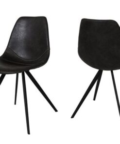 Catalent 19397 Dizajnová jedálenská stolička Lucy / čierna