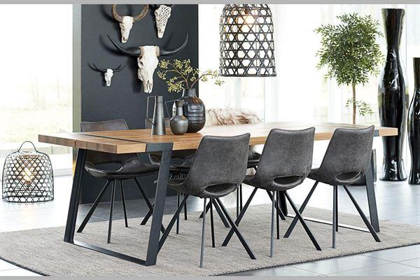 Catalent Jedálenský stôl Annie 240 - 360cm / prírodná-čierna