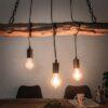 LuxD 23737 Dizajnové závesné svetlo Shark 73 cm recyklované drevo závesné svietidlo