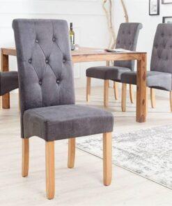 LuxD 18452 Jedálenská stolička Clemente Vintage sivá