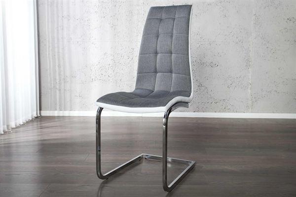 LuxD 16125 Jedálenská stolička Liverpool sivá