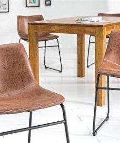 LuxD 18464 Dizajnová stolička Alba hnedá