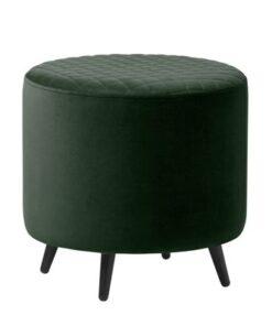 Furniria Dizajnová taburetka Hallie 45 cm zelený zamat