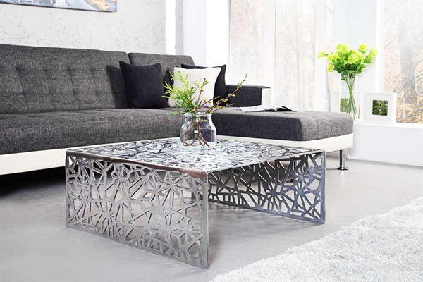 LuxD Dizajnový stolík Pablo 60 cm strieborný