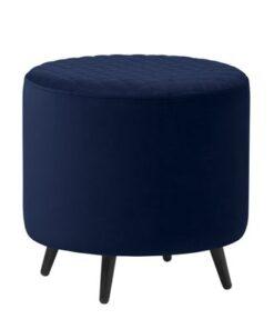 Furniria Dizajnová taburetka Hallie 45 cm modrý zamat