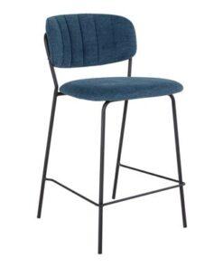 Norddan Dizajnová barová stolička Rosalie modrá