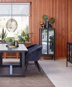 Catalent Jedálenský stôl Bily čierny 170 cm