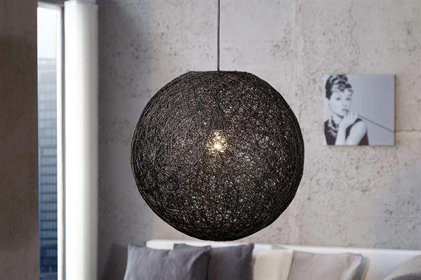 LuxD 16674 Lampa Wrap čierna 45cm závesné svietidlo