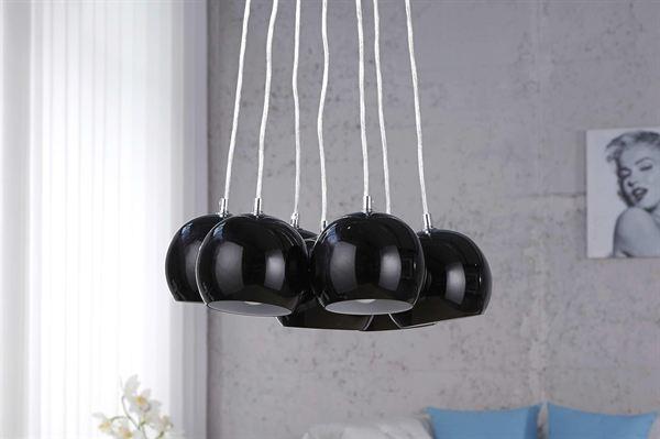 LuxD 16652 Lampa Gemstone čierna závesné svietidlo