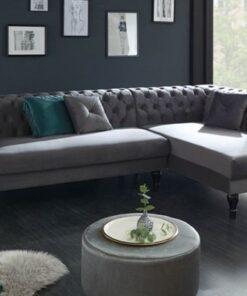 LuxD Dizajnová rohová sedačka Natasha strieborno-sivá