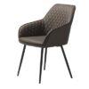 Furniria 24000 Dizajnová stolička Dana tmavohnedá koženka