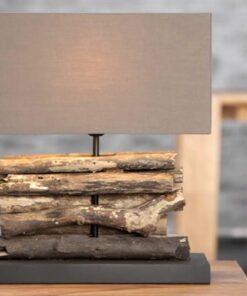 LuxD 17124 Stolná lampa FERRE hnedá