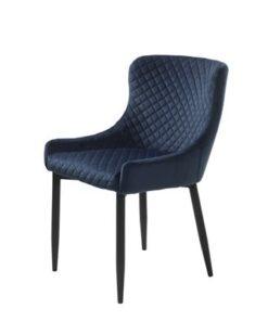 Furniria 23984 Dizajnová stolička Hallie modrý zamat