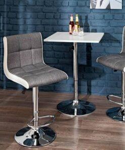 LuxD Dizajnová barová stolička Modern šedo biela
