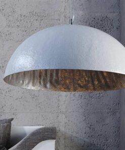 LuxD 16713 Glimer 50cm bielo-strieborná závesné svietidlo