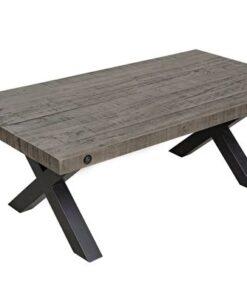 LuxD Dizajnový konferenčný stolík Thunder 120 cm sivý - borovica