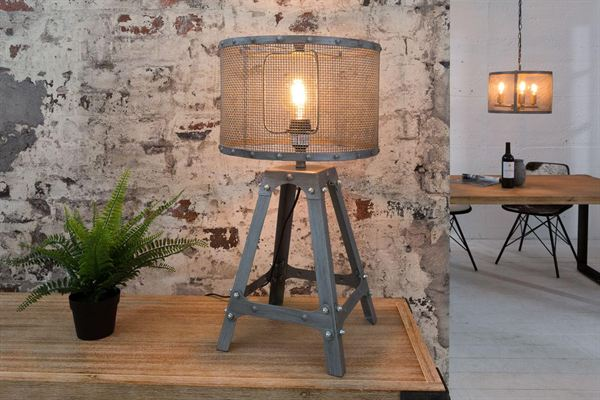 LuxD 20029 Dizajnová stolná lampa Metall 60 cm / sivá