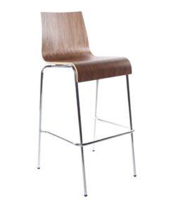 DesignS Moderná barová stolička Aiden orech