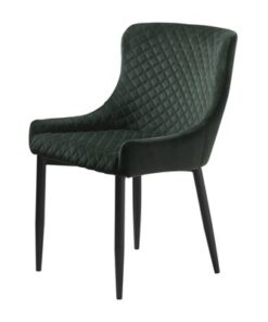 Furniria 23986 Dizajnová stolička Hallie zelený zamat