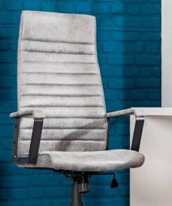 LuxD Kancelárska stolička Roma Vintage šedá 125cm