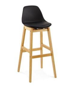 DesignS Moderná barová stolička Evan čierna
