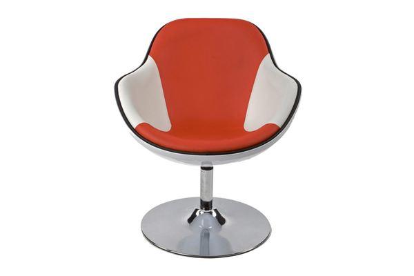 DesignS Kreslo Fastchair bielo-červené