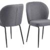 Dkton 24803 Dizajnová stolička Cindy sivá