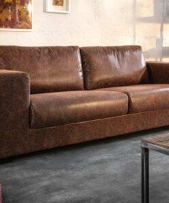 LuxD Dizajnová sedačka Joe - 219 cm vintage hnedá