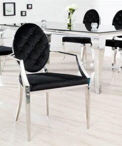 LuxD 18550 Dizajnová stolička Rococo s operadlom  - RP