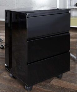 LuxD 15966 Zásuvková skrinka Boss Black