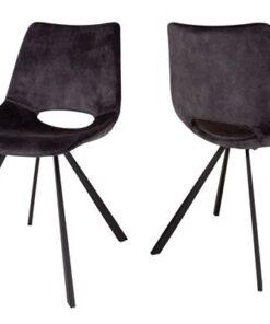 Catalent 21566 Dizajnová stolička Izabella / velúr antracitová