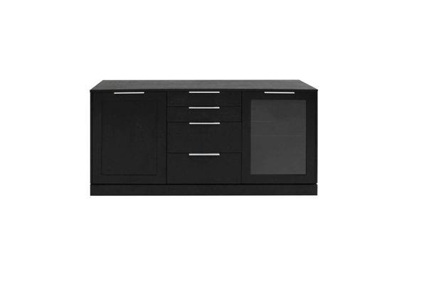 Catalent Dizajnová komoda Franco / 2 dverová čierna
