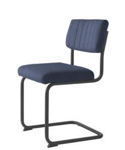 Furniria 23935 Konzolová stolička Javon modrý zamat