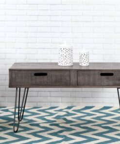 LuxD Dizajnový konferenčný stolík Felix 100cm sivé mango