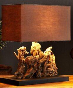 LuxD 17115 Stolná lampa z naplaveného dreva NATURE