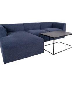 Norddan Dizajnová rohová sedačka Anahi modrá ľavá