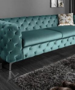 LuxD Dizajnová sedačka Rococo 240cm / aqua