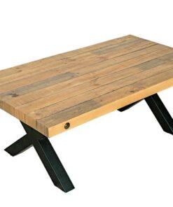LuxD Dizajnový konferenčný stolík Thunder 120 cm prírodný - borovica