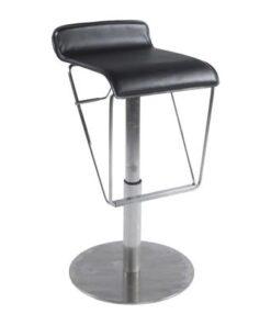 DesignS Moderná barová stolička Jacob čierna