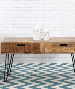 LuxD Dizajnový konferenčný stolík Felix 100cm mango