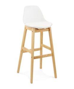 DesignS Moderná barová stolička Evan biela