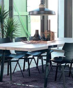 Catalent Luxusný jedálenský stôl Zora 240 - 360cm prírodná/čierna