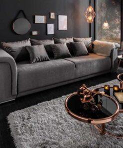 LuxD Dizajnová sedačka Korbin 270 cm svetlosivý zamat