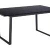 Dkton Dizajnový jedálenský stôl Nayo 160 cm čierny mramor