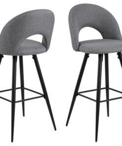 Dkton Dizajnová barová stolička Jaylene sivá