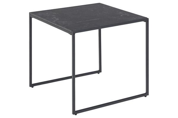 Dkton Dizajnový odkladací stolík Joslyn čierny mramor