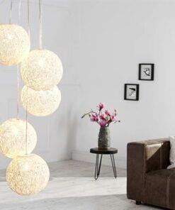 LuxD 16673 Lampa Wrap 5 biela závesné svietidlo