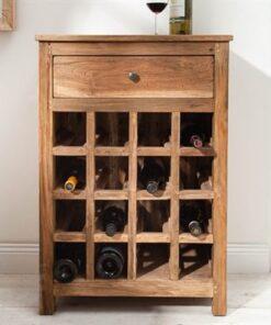LuxD Regál na víno Lyric recyklované drevo