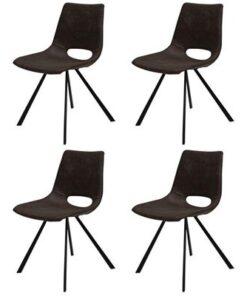 Catalent 19866 Dizajnová stolička Izabella / tmavo hnedá